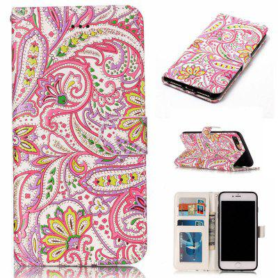 Pepper Flowers Varnish Relief Pu Phone Case for Iphone 8 Plus 7 Plus