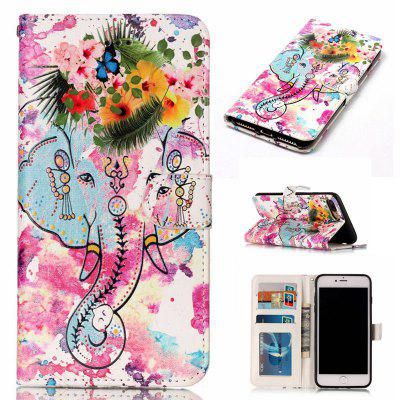 Flower Like Varnish Relief Pu Phone Case for Iphone 8 Plus 7 Plus