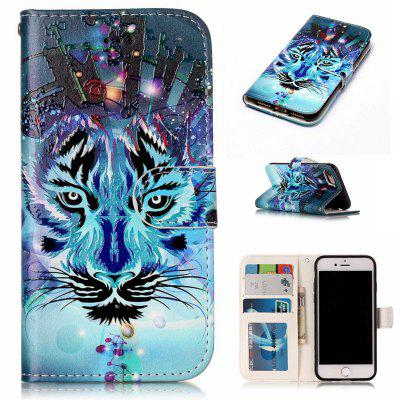 Wolf Varnish Relief Pu Phone Case for Iphone 8 7