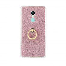 Wkae Soft Flexible Tpu Back Cover Case Shockproof Protective Shell with Bling Glitter Sparkles And Kickstand for Xiaomi Redmi Note 4X