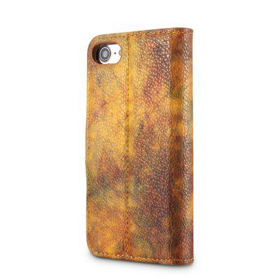 Wkae Forest Series Colorful Paiting Litchi Texture Premium Pu Leather Horizontal Flip Stand Wallet Case Cover with Card Slots for Iphone 7 And 8 wuw carbon fiber texture pu leather coated card holder pc back cover for iphone 7 4 7 gold