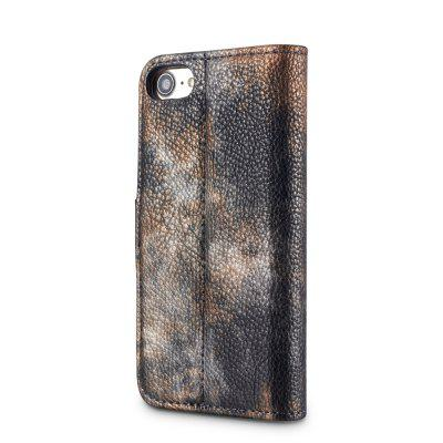 Wkae Forest Series Colorful Paiting Litchi Texture Premium Pu Leather Horizontal Flip Stand Wallet Case Cover with Card Slots for Iphone 7 And 8