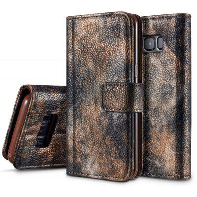 Wkae Forest Series Colorful Paiting Litchi Texture Premium PU Leather Horizontal Flip Stand Wallet Case Cover with Card