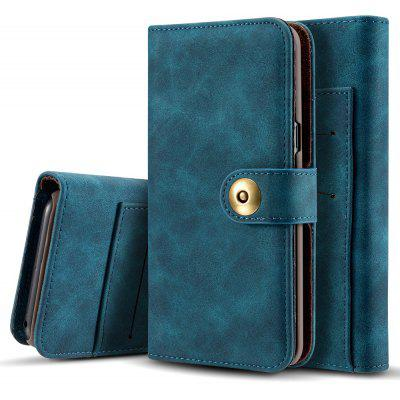 Wkae Retro Style Detachable Magnetic Leather Case Cover with Large Capacity Card Cash Slots And Secure Rivet Buckle for Samsung Galaxy Note 8