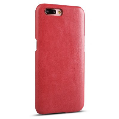 Buy RED Retro Style Cow Leather Hard Back Case for OPPO R11 for $8.99 in GearBest store