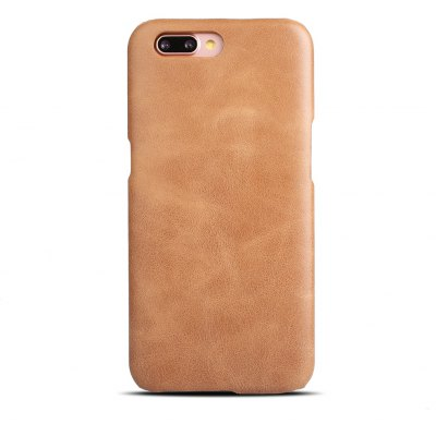 Buy BROWN Retro Style Cow Leather Hard Back Case for OPPO R11 Plus for $8.99 in GearBest store