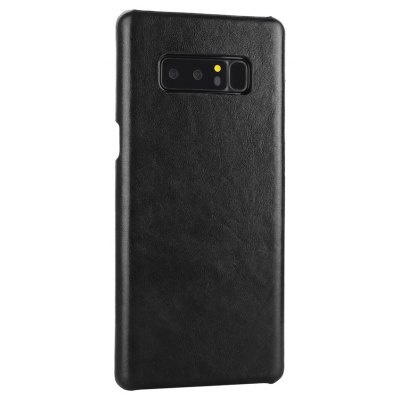 Retro Style Cow Leather Hard Back Case for Samsung Galaxy Note 8
