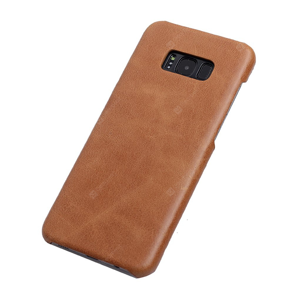 Retro Style Cow Leather Hard Back Case for Samsung Galaxy S8 Plus