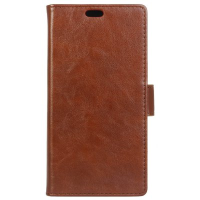 Buy BROWN KaZiNe Luxury PU Leather Silicon Magnetic Dirt Resistant Phone Bags Cases for HUAWEI Honor G9 for $4.40 in GearBest store