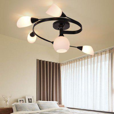 JUEJA Modern Minimalist Personality Iron Ceiling Light 6 Heads E27 85 - 265V Lamp Base