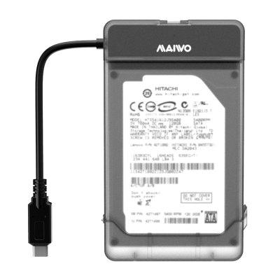Maiwo K104c 2.5 Inch Type-C Hard Drive EnclosureHDD Enclosure<br>Maiwo K104c 2.5 Inch Type-C Hard Drive Enclosure<br><br>Application: Desktop, Laptop, Server<br>Brand: maiwo<br>Color: Black<br>Compatible: Mac OS, Windows 2000, Windows 7, Windows 98, Windows Vista, Windows XP, Linux<br>Design: Compact, Stylish, Portable, Fun, Classical<br>Interface Type: SATA3<br>Material: ABS<br>Package Size(L x W x H): 13.00 x 9.00 x 2.00 cm / 5.12 x 3.54 x 0.79 inches<br>Package weight: 0.0600 kg<br>Packing List: 1 x maiwo K104C 2.5 inch Type-C Hard Drive Enclosure<br>Product Size(L x W x H): 21.50 x 2.70 x 1.20 cm / 8.46 x 1.06 x 0.47 inches<br>Product weight: 0.0500 kg<br>Size: 2.5 inch<br>Voltage and Current: USB self powered