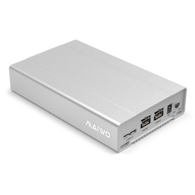 Maiwo K2526u3fw Minipro 2.5 Firewire 800 Usb 3.0 External Aluminum Hard Drive Hdd Solid State Ssd Enclosure Up To 15MM U