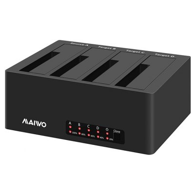 Buy BLACK Maiwo K3084 Hard Drive Duplicator Esata Dock 4 Bay Usb 3.0 Esata Hard Drive Docking Station with Clone Duplicator Function for 2.5/3.5 Inch Sata Hard Drive Abs Plastic Diskless for $98.48 in GearBest store
