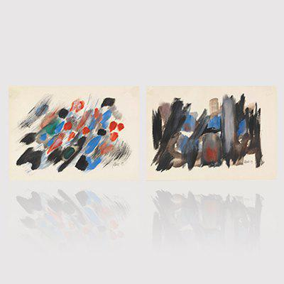 Hx-Art No Frame Canvas Classic Abstract Painting Living Rooms Europe America-Up Decorative Painting