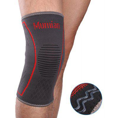 Mumian A09 Silicone Slip-Resistant Knee Black Green Color Knitting Keep Sports Knee Sleeve Brace - 1PCS
