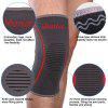 Mumian A09 Silicone Slip-Resistant Knee Black Green Color Knitting Keep Sports Knee Sleeve Brace - 1PCS - GRAY AND RED