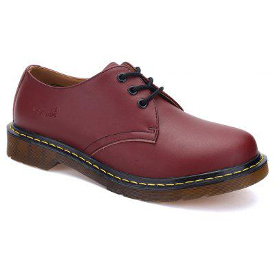 Couple Shoes Martin Working Fashion British Flats Classic Leather Shoes