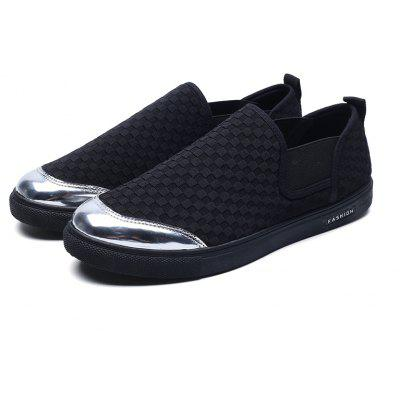 Solid Color Checked Mens Flat LoafersCasual Shoes<br>Solid Color Checked Mens Flat Loafers<br><br>Available Size: 39-44<br>Closure Type: Slip-On<br>Embellishment: None<br>Gender: For Men<br>Outsole Material: Rubber<br>Package Contents: 1? Pair of Shoes<br>Pattern Type: Solid<br>Season: Spring/Fall<br>Toe Shape: Round Toe<br>Toe Style: Closed Toe<br>Upper Material: Nylon<br>Weight: 1.2000kg