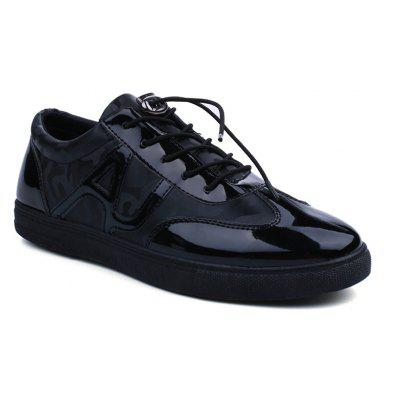 Letter Drawstring Solid Color Casual Shoes