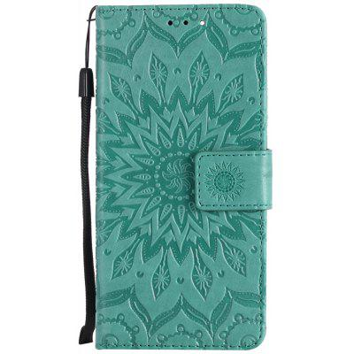 Buy GREEN Sun Flower Printing Design Pu Leather Flip Wallet Lanyard Protective Case for Xiaomi Mi6 for $3.69 in GearBest store
