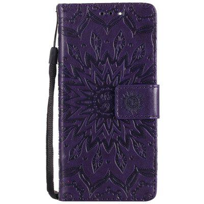 Buy PURPLE Sun Flower Printing Design Pu Leather Flip Wallet Lanyard Protective Case for Xiaomi Mi6 for $3.69 in GearBest store