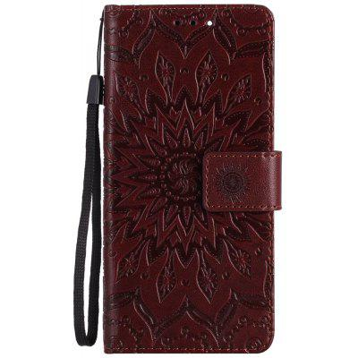 Buy BROWN Sun Flower Printing Design Pu Leather Flip Wallet Lanyard Protective Case for Xiaomi Mi6 for $3.69 in GearBest store