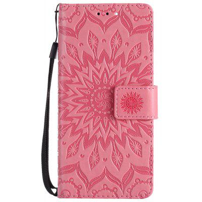 Buy PINK Sun Flower Printing Design Pu Leather Flip Wallet Lanyard Protective Case for Xiaomi Mi6 for $3.69 in GearBest store