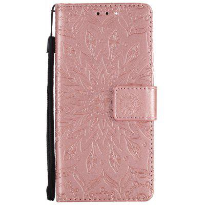 Buy ROSE GOLD Sun Flower Printing Design Pu Leather Flip Wallet Lanyard Protective Case for Xiaomi Mi6 for $3.69 in GearBest store