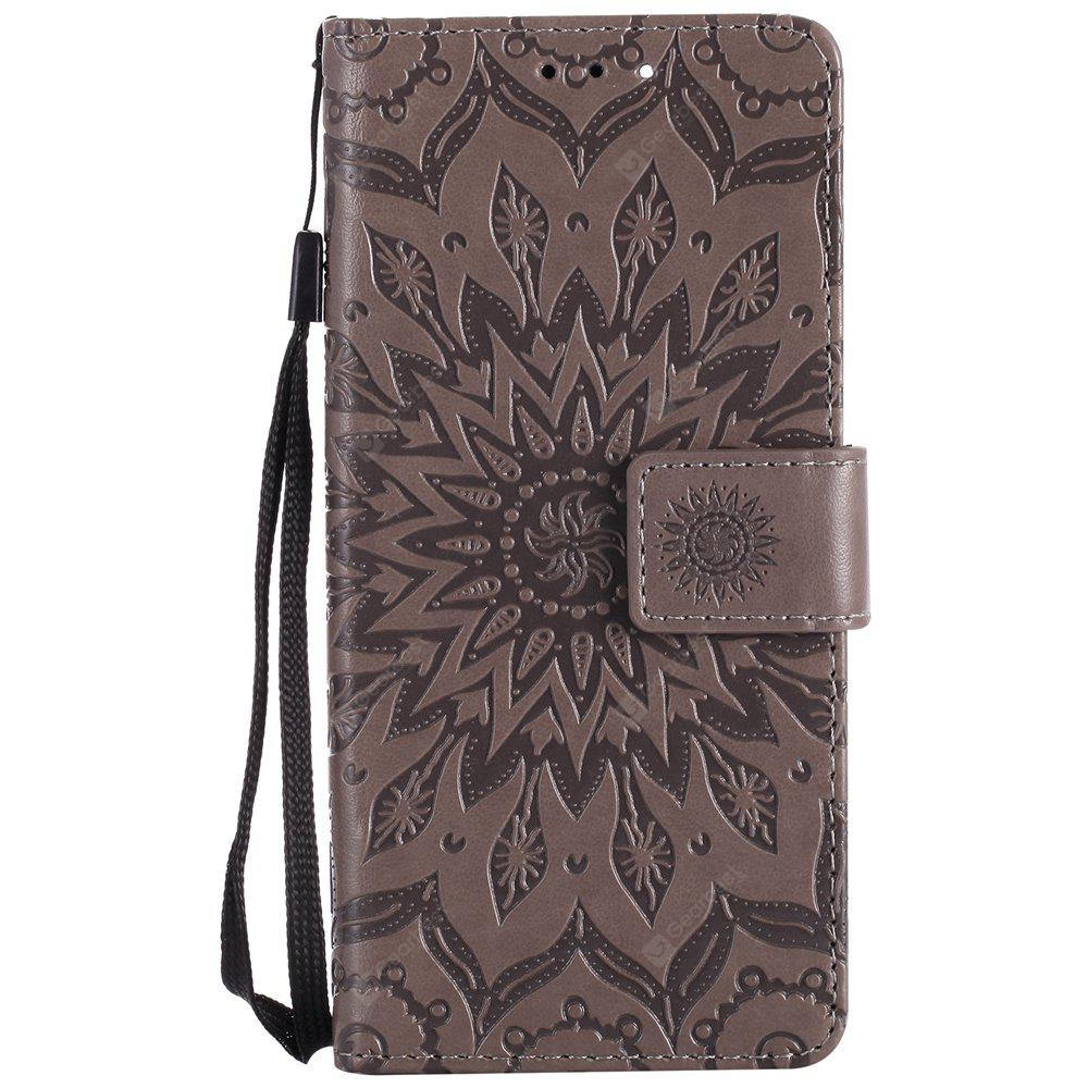 Sun Flower Printing Design Pu Leather Flip Wallet Lanyard Protective Case for Xiaomi Mi6
