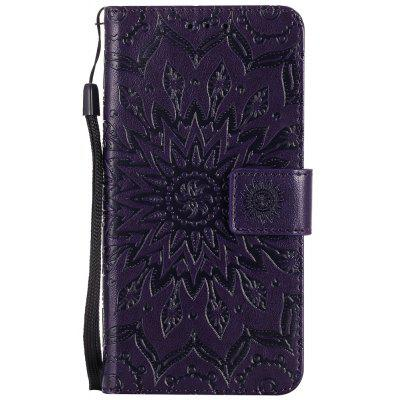 Buy PURPLE Sun Flower Printing Design Pu Leather Flip Wallet Lanyard Protective Case for Huawei Y3, 2017 for $3.69 in GearBest store