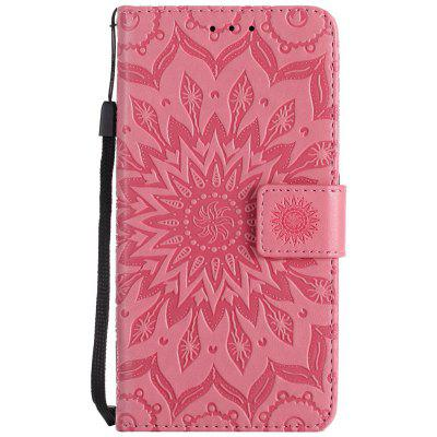 Buy PINK Sun Flower Printing Design Pu Leather Flip Wallet Lanyard Protective Case for Huawei Y3, 2017 for $3.69 in GearBest store