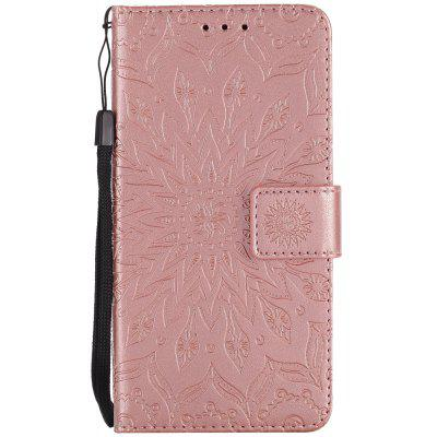 Sun Flower Printing Design Pu Leather Flip Wallet Lanyard Protective Case for Huawei Y3 (2017)