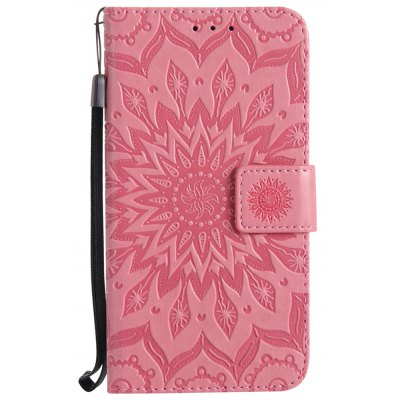 Buy PINK Sun Flower Printing Design Pu Leather Flip Wallet Lanyard Protective Case for Huawei Y5, 2017 for $3.69 in GearBest store