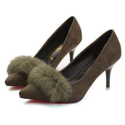 Fuzzy Ball Embellished Pointed Toe High Heels ShoesWomens Pumps<br>Fuzzy Ball Embellished Pointed Toe High Heels Shoes<br><br>Available Size: 35,36,37,38,39<br>Heel Type: Others<br>Occasion: Casual<br>Package Contents: 1 x Shoes?Pair?<br>Pumps Type: Mary Janes<br>Season: Spring/Fall, Winter<br>Toe Shape: Pointed Toe<br>Toe Style: Closed Toe<br>Upper Material: Flock<br>Weight: 1.1200kg