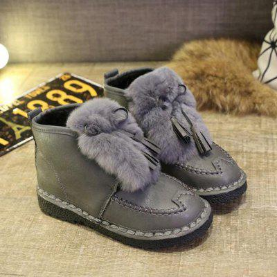 Fluffy Tassel Pendants Solid Color Ankle BootsWomens Boots<br>Fluffy Tassel Pendants Solid Color Ankle Boots<br><br>Boot Height: Ankle<br>Boot Type: Fashion Boots<br>Closure Type: Zip<br>Gender: For Women<br>Heel Type: Others<br>Package Contents: 1 x Shoes?Pair?<br>Pattern Type: Others<br>Season: Spring/Fall, Winter<br>Toe Shape: Round Toe<br>Upper Material: PU<br>Weight: 1.1200kg