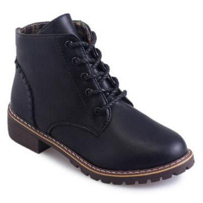 2017 Autumn And Winter Lace-Up Boots