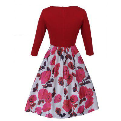 Rrockabilly Vintage Dress Floral Print 50S 60S Style Dress Women O-Neck 3/4 Sleeve Party Clubwear Formal DressPlus Size Dresses<br>Rrockabilly Vintage Dress Floral Print 50S 60S Style Dress Women O-Neck 3/4 Sleeve Party Clubwear Formal Dress<br><br>Dresses Length: Knee-Length<br>Elasticity: Elastic<br>Fabric Type: Worsted<br>Material: Polyester<br>Neckline: Round Collar<br>Package Contents: 1 x Dress<br>Pattern Type: Floral<br>Season: Fall, Spring<br>Silhouette: A-Line<br>Sleeve Length: 3/4 Length Sleeves<br>Style: Fashion<br>Weight: 0.4000kg<br>With Belt: No