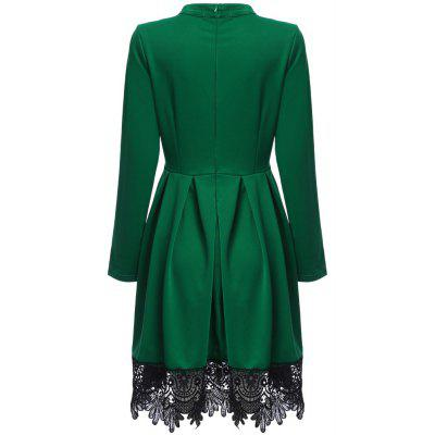 2017 Elegant Lace Stitching Long Sleeve Dress Womens Vintage Winter O Neck Work Office Casual Party A Line Skater DressBodycon Dresses<br>2017 Elegant Lace Stitching Long Sleeve Dress Womens Vintage Winter O Neck Work Office Casual Party A Line Skater Dress<br><br>Dress Type: Tunic Dress<br>Dresses Length: Knee-Length<br>Elasticity: Elastic<br>Material: Polyester<br>Neckline: Mandarin Collar<br>Occasion: Office, Work, Going Out, Evening, Day, Prom<br>Package Contents: 1 x Dress<br>Pattern Type: Others<br>Season: Fall, Spring<br>Silhouette: A-Line<br>Sleeve Length: Long Sleeves<br>Style: Work<br>Weight: 0.4000kg<br>With Belt: No
