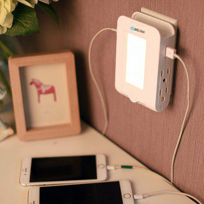 Brelong 2USB + 4 Us Charger Plug Receptor Induction Nightlight Charger 2.1A ( Dc5v ) 110-140V Warm White