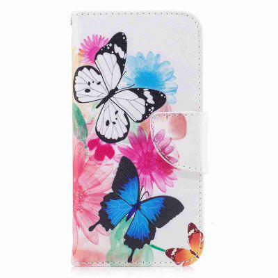 Two Butterflies Classic Painted Pu Phone Case for Iphone x