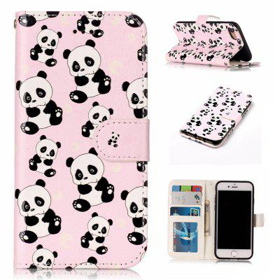 Panda Varnish Relief Pu Phone Case for Iphone 8 / 7