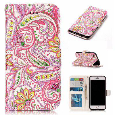 Pepper Flowers Varnish Relief Pu Phone Case for Iphone 8 / 7
