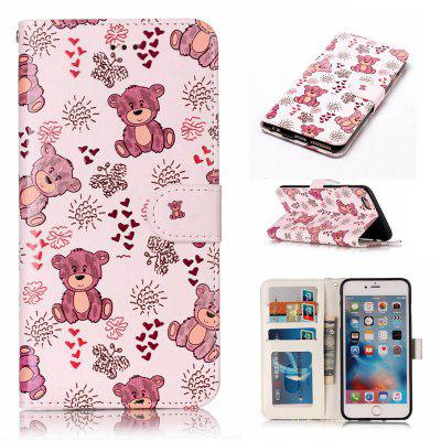 Bear Varnish Relief Pu Phone Case for Iphone 6S Plus / 6 Plus