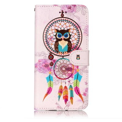 Wind Chimes Owl Varnish Relief Pu Phone Case for Iphone 6S Plus / 6 Plus icarer wallet genuine leather phone stand cover for iphone 6s plus 6 plus marsh camouflage