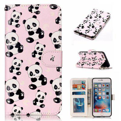 Panda Varnish Relief Pu Phone Case for Iphone 6S Plus / 6 Plus