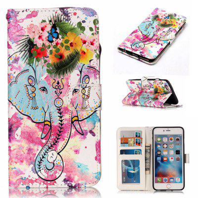 Flower Like Varnish Relief Pu Phone Case for Iphone 6S Plus / 6 Plus
