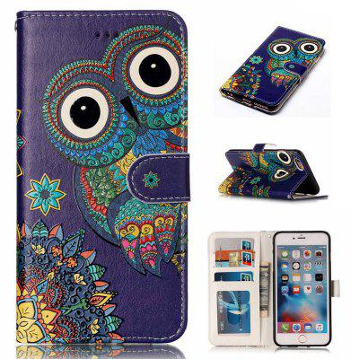 National Wind Owl Varnish Relief Pu Phone Case for Iphone 6S Plus / 6 Plus
