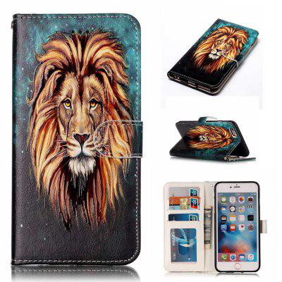 Lion Varnish Relief Pu Phone Case for Iphone 6S / 6
