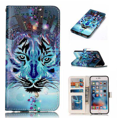 Wolf Varnish Relief Pu Phone Case for Iphone 6S / 6
