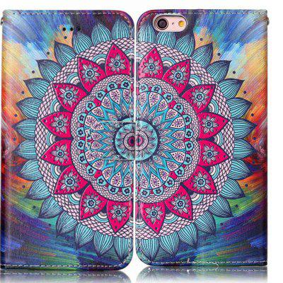 Half Flowers Varnish Relief Pu Phone Case for Iphone 6S 6 fierce tiger hard case cover for iphone 6s 6 4 7 inch